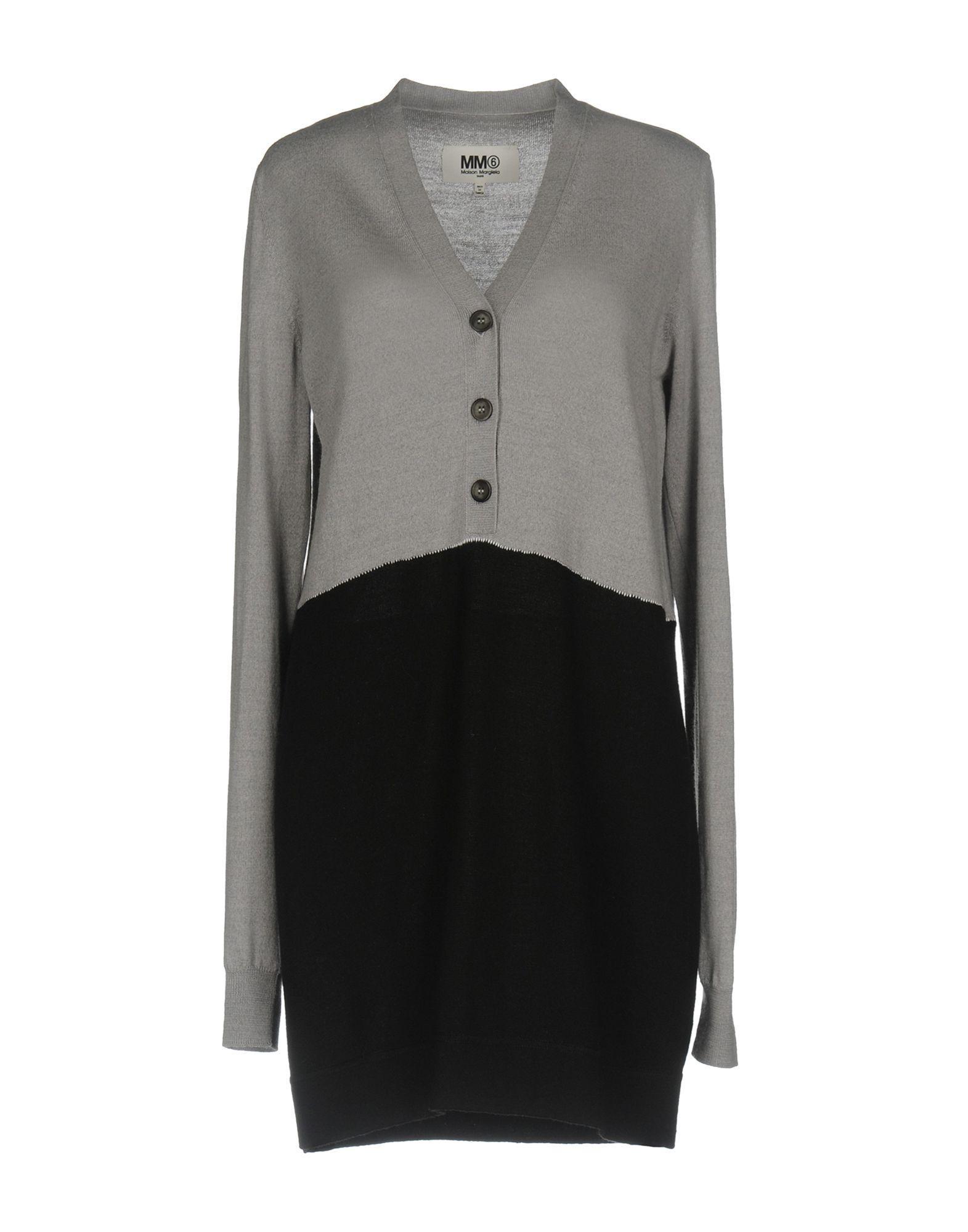 Mm6 Maison Margiela Short Dresses In Grey