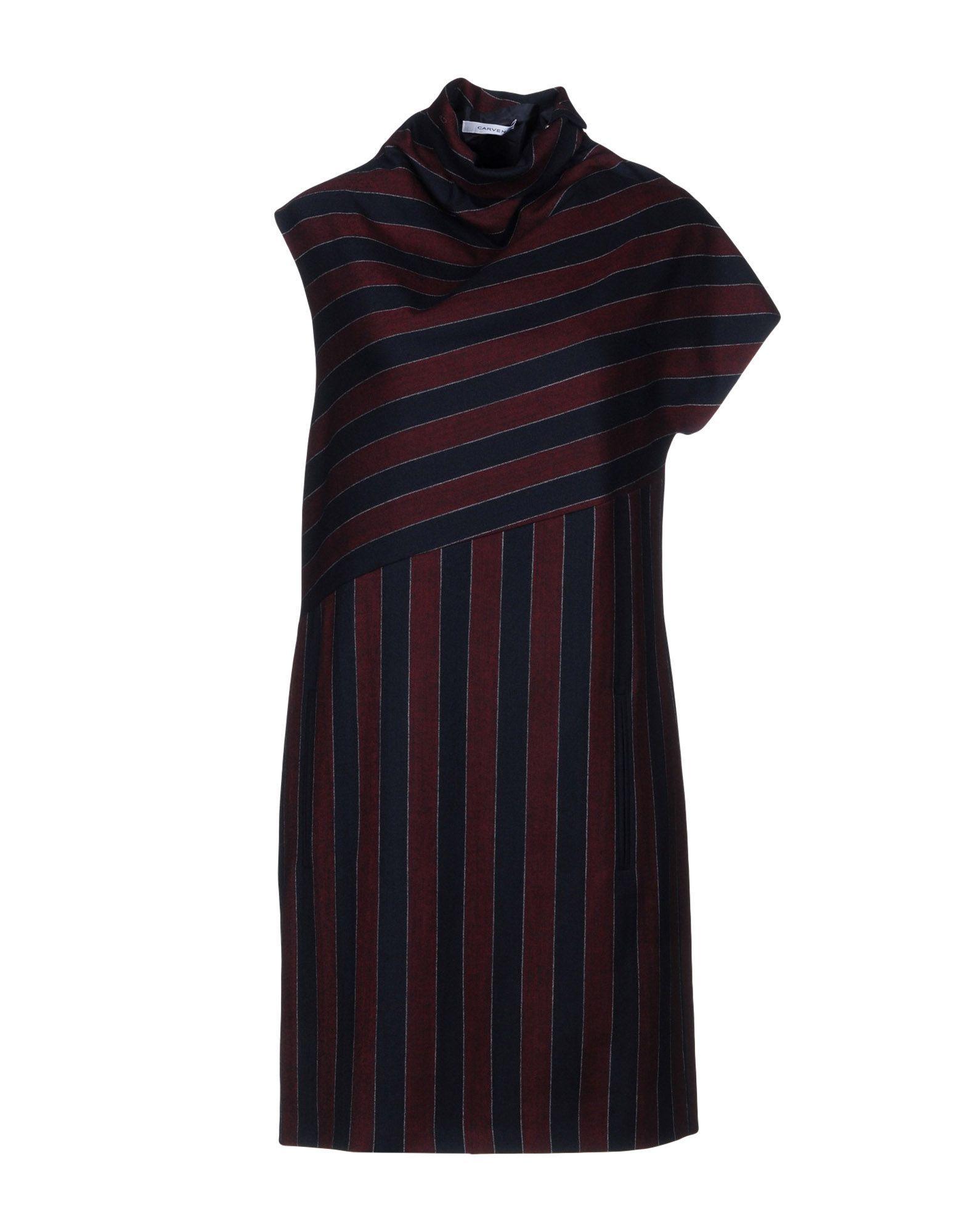 Carven Short Dress In Dark Blue