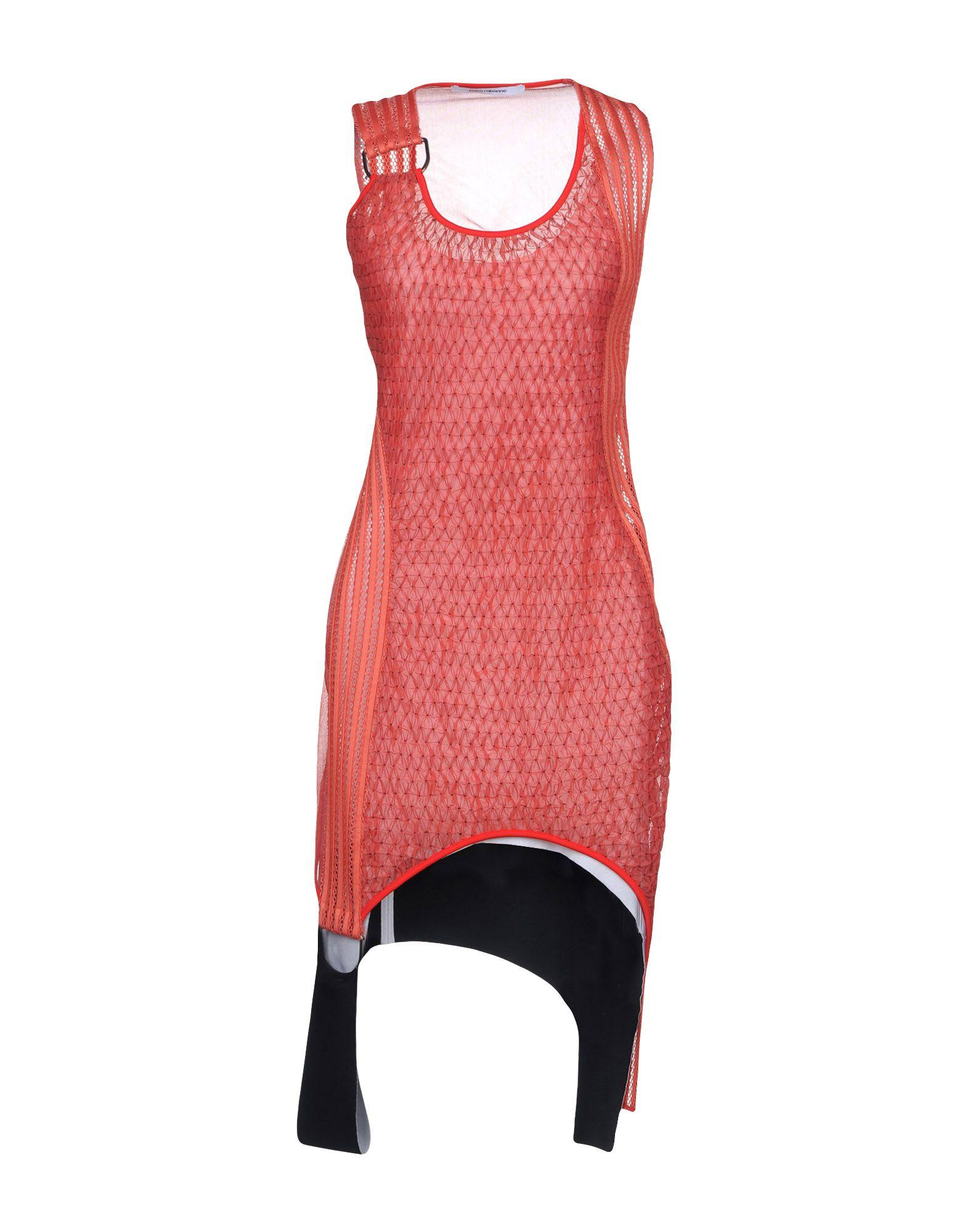 Paco Rabanne Short Dress In Coral