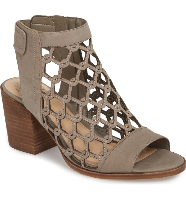 69903817f5b Vince Camuto Lanaira Sandal In Hippo Grey Nubuck Leather. Nordstrom