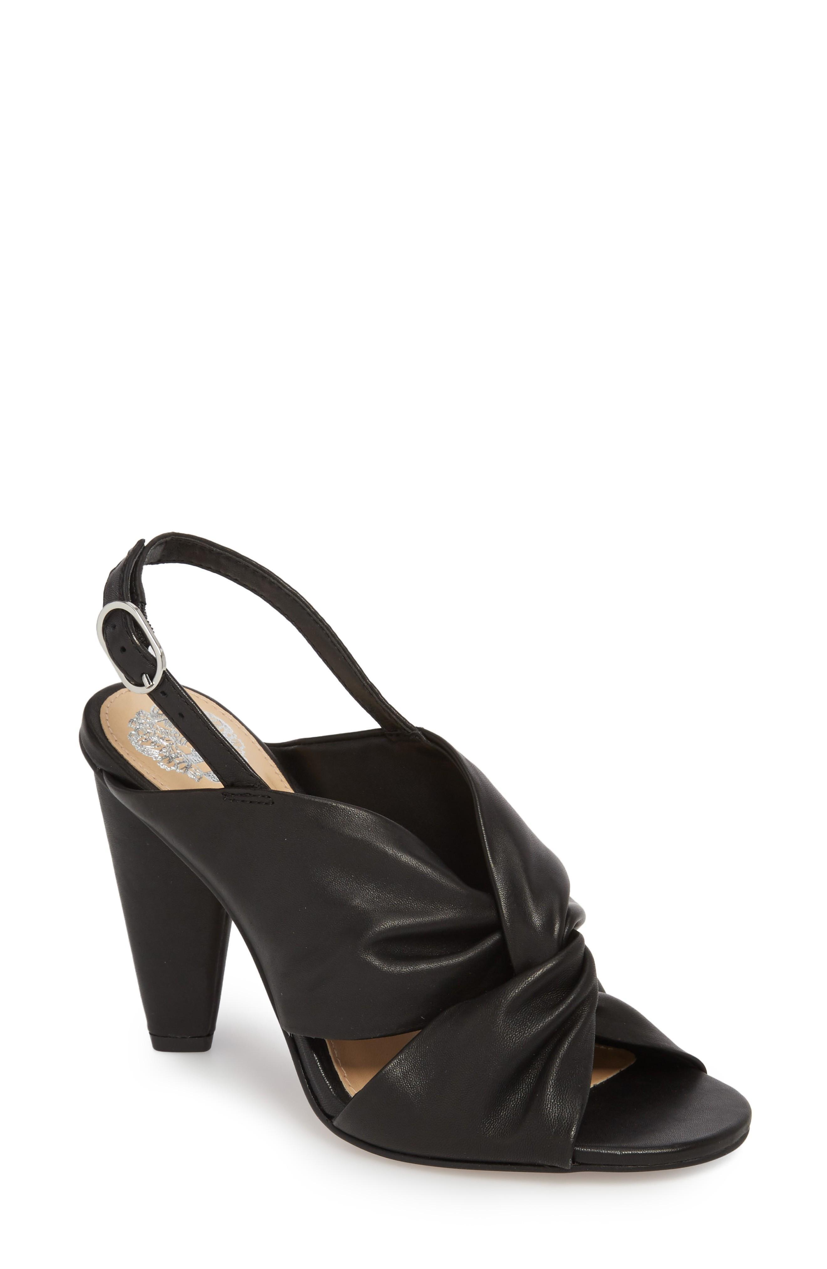 Vince Camuto Kattie Slingback Sandal In Black Leather