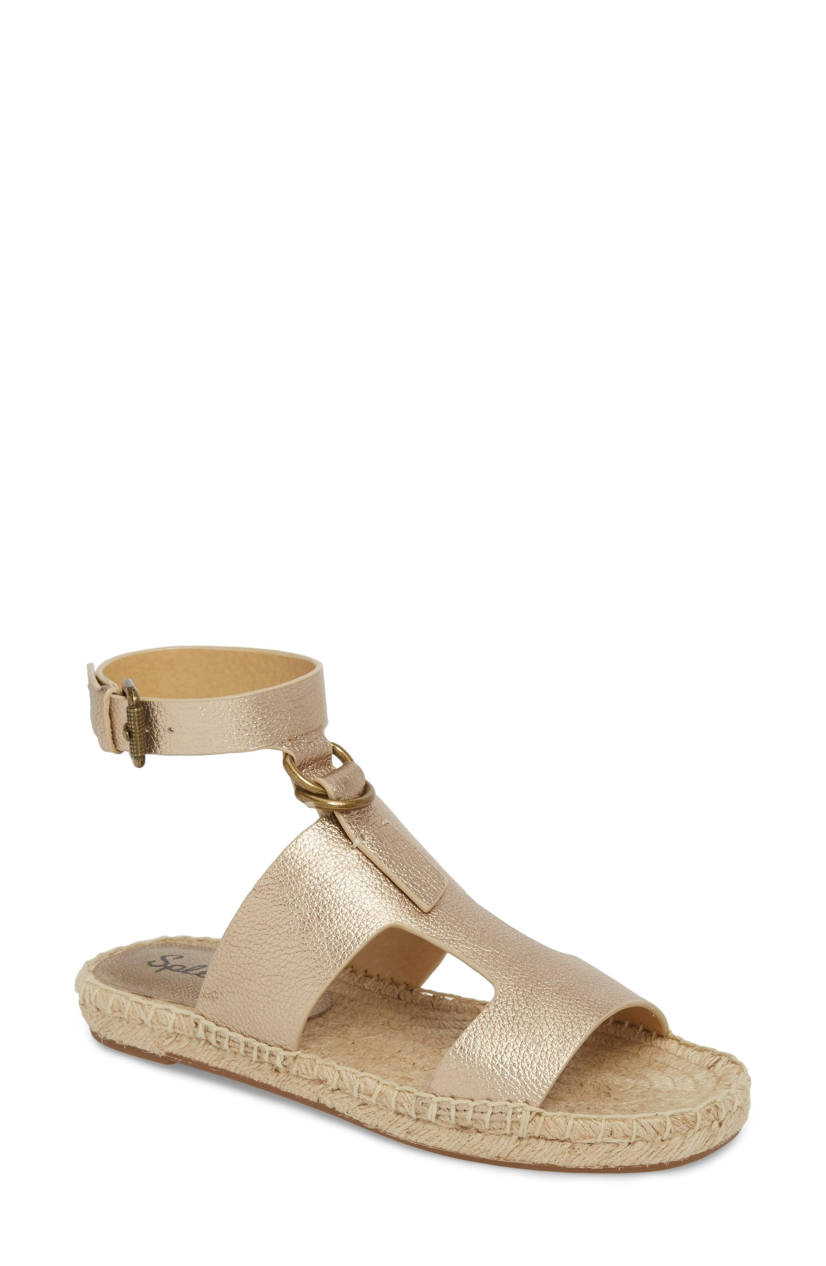 Splendid Farley Espadrille Sandal In Champagne Leather