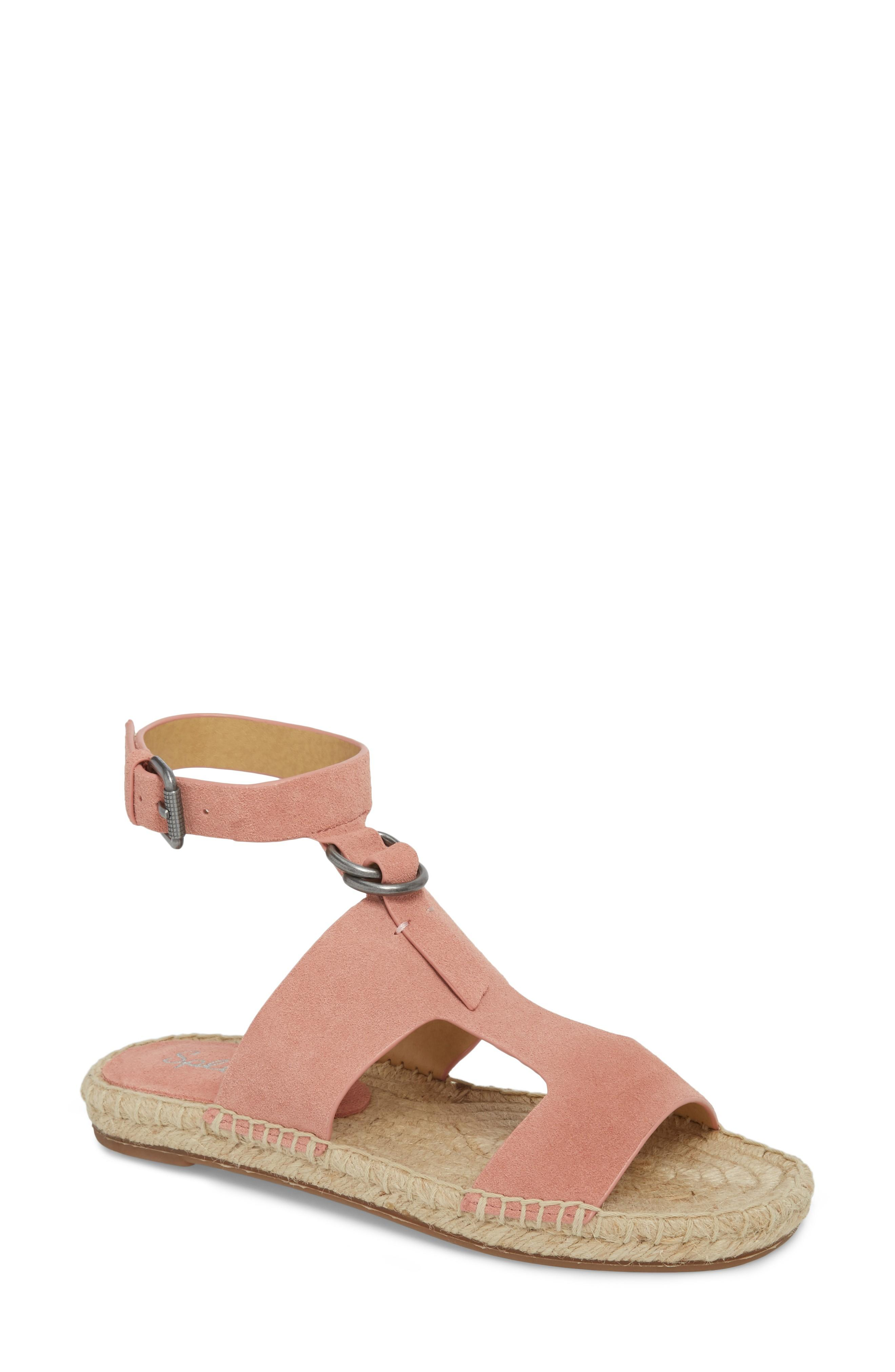 Splendid Farley Espadrille Sandal In Blush Suede