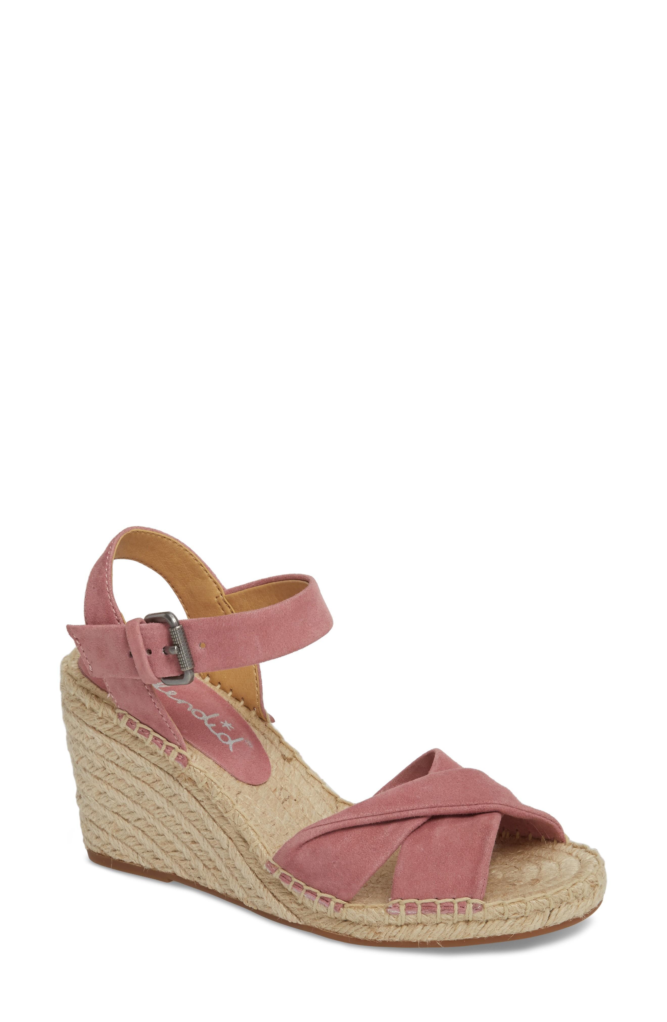 Splendid Fairfax Espadrille Wedge Sandal In Mesa Rose Suede