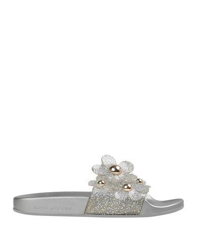 Marc Jacobs Women's Daisy Embellished Glitter Pool Slide Sandals In Silver