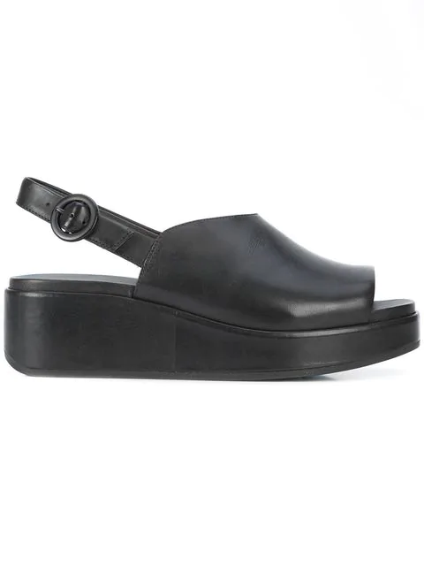2eca91a0d88e Camper Misia Slingback Platform Wedge Sandal In Black