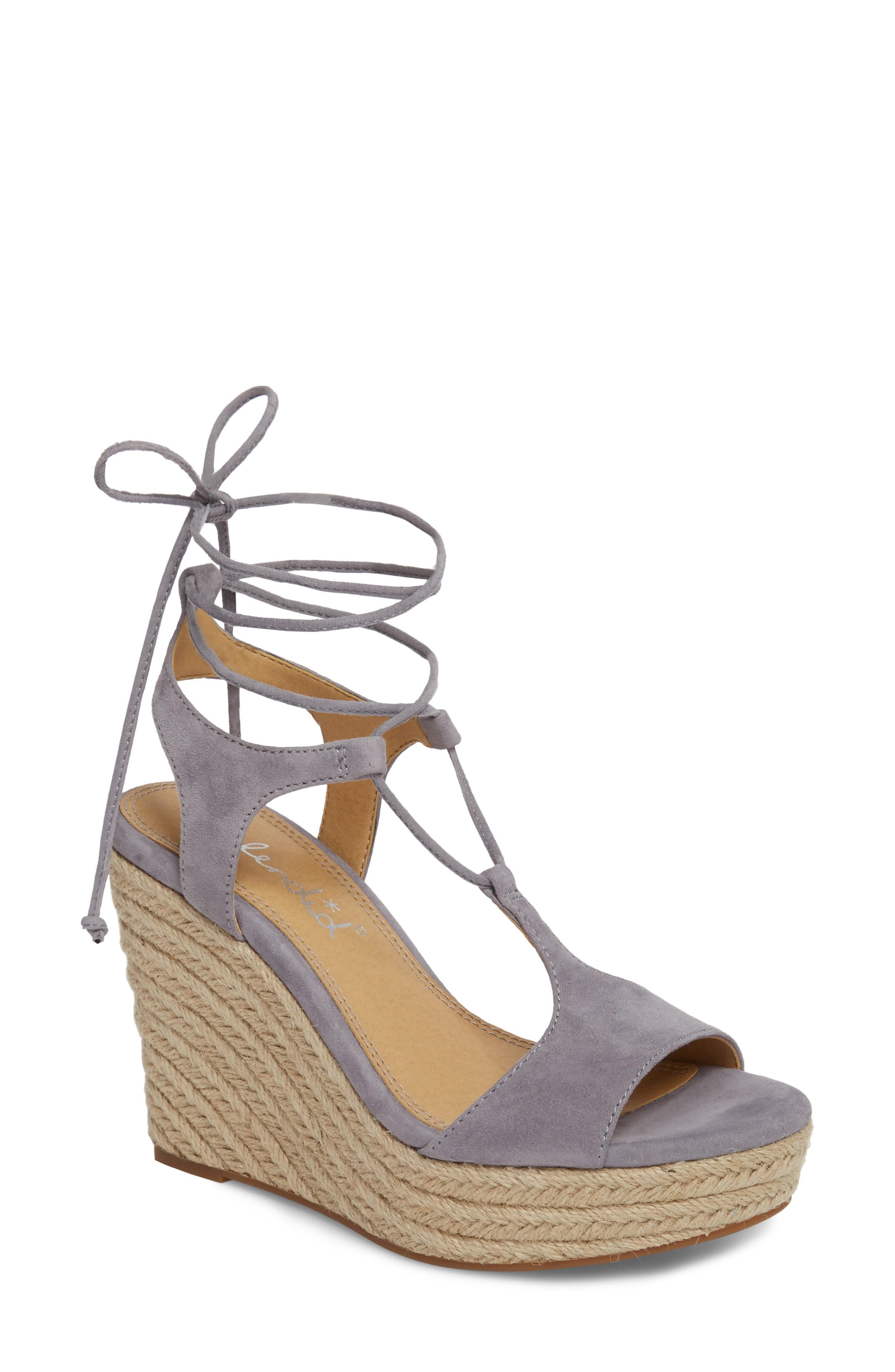 4656835f1 Splendid Fianna Espadrille Wedge Sandal In Steel Grey Suede | ModeSens