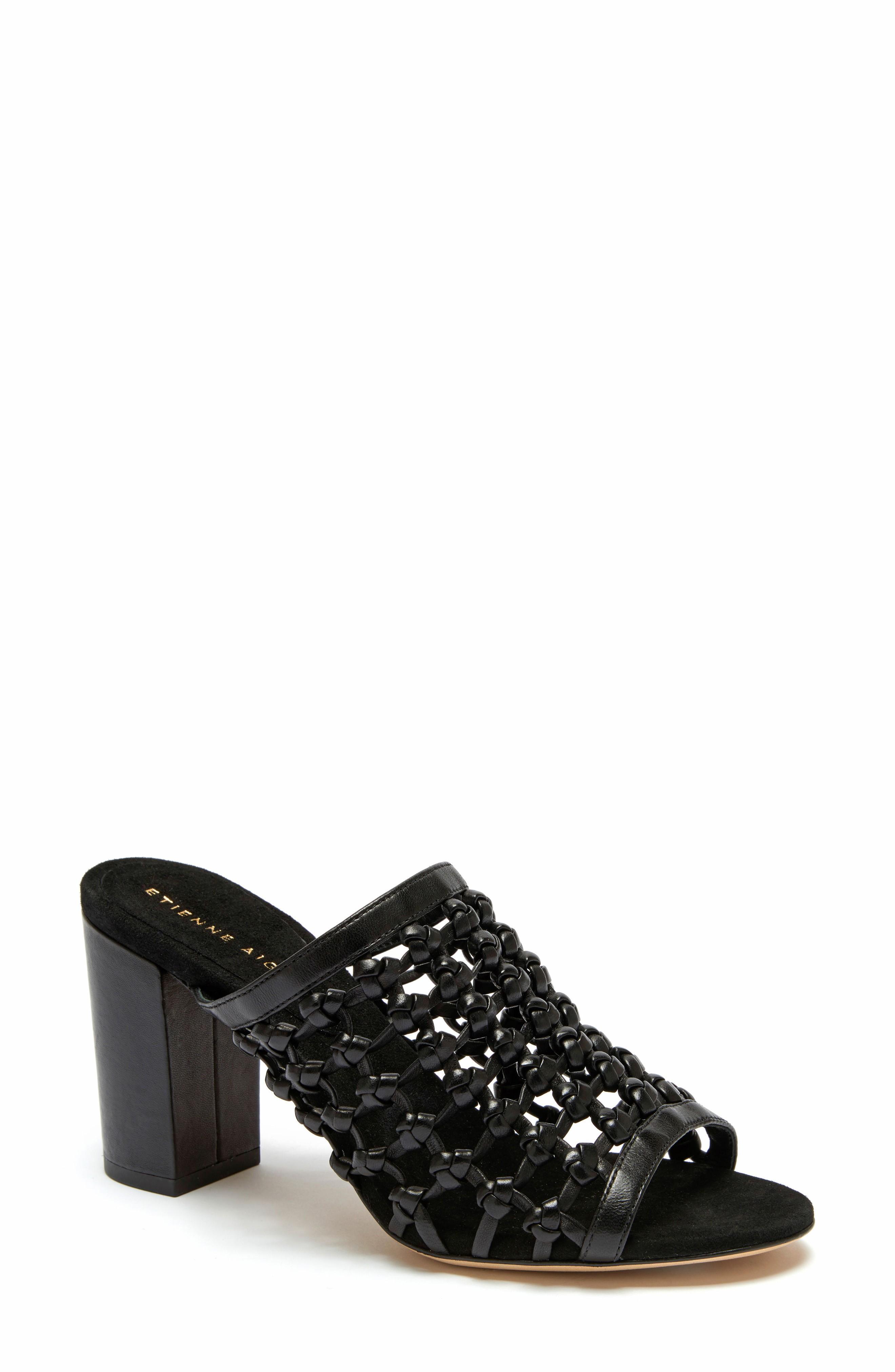 Etienne Aigner Lanai Sandal In Black Leather