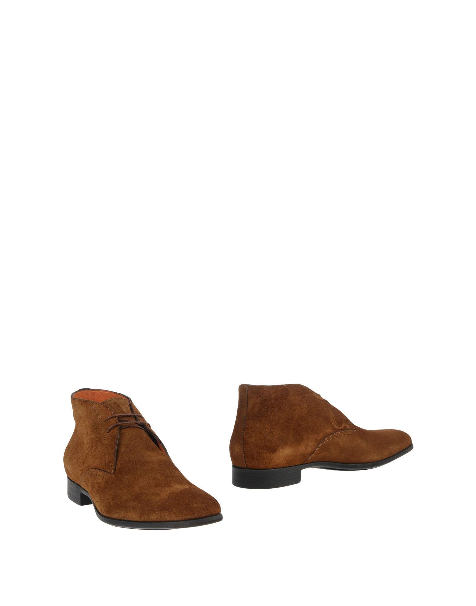 Santoni Ankle Boots In Camel
