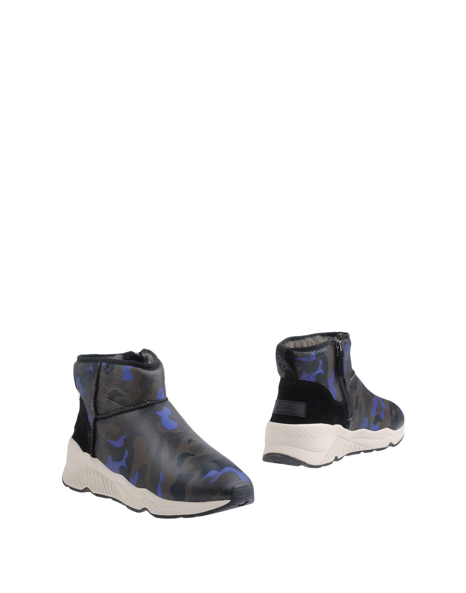 Ash Ankle Boots In Dark Green