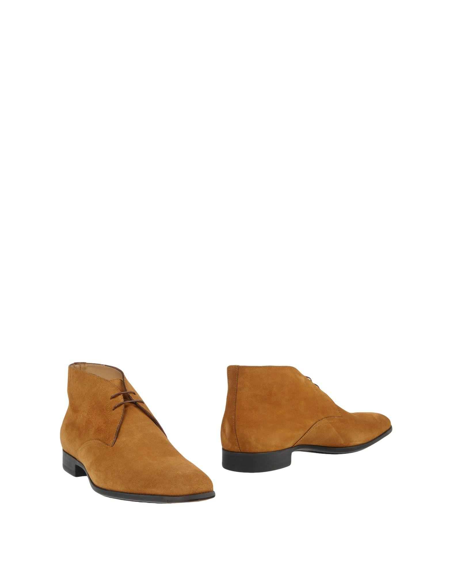 Santoni Ankle Boots In Tan