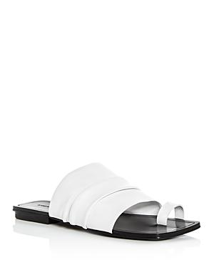 Sigerson Morrison Women's Abbe Leather Slide Sandals In Ivory