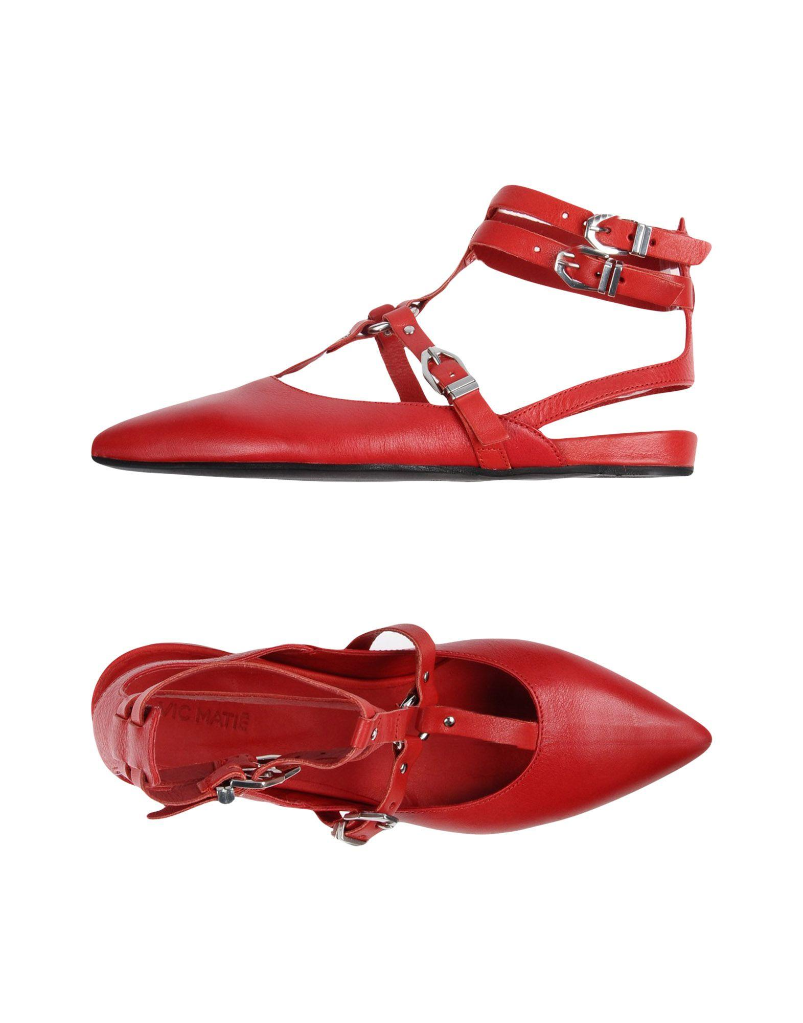 Vic Matie Ballet Flats In Red