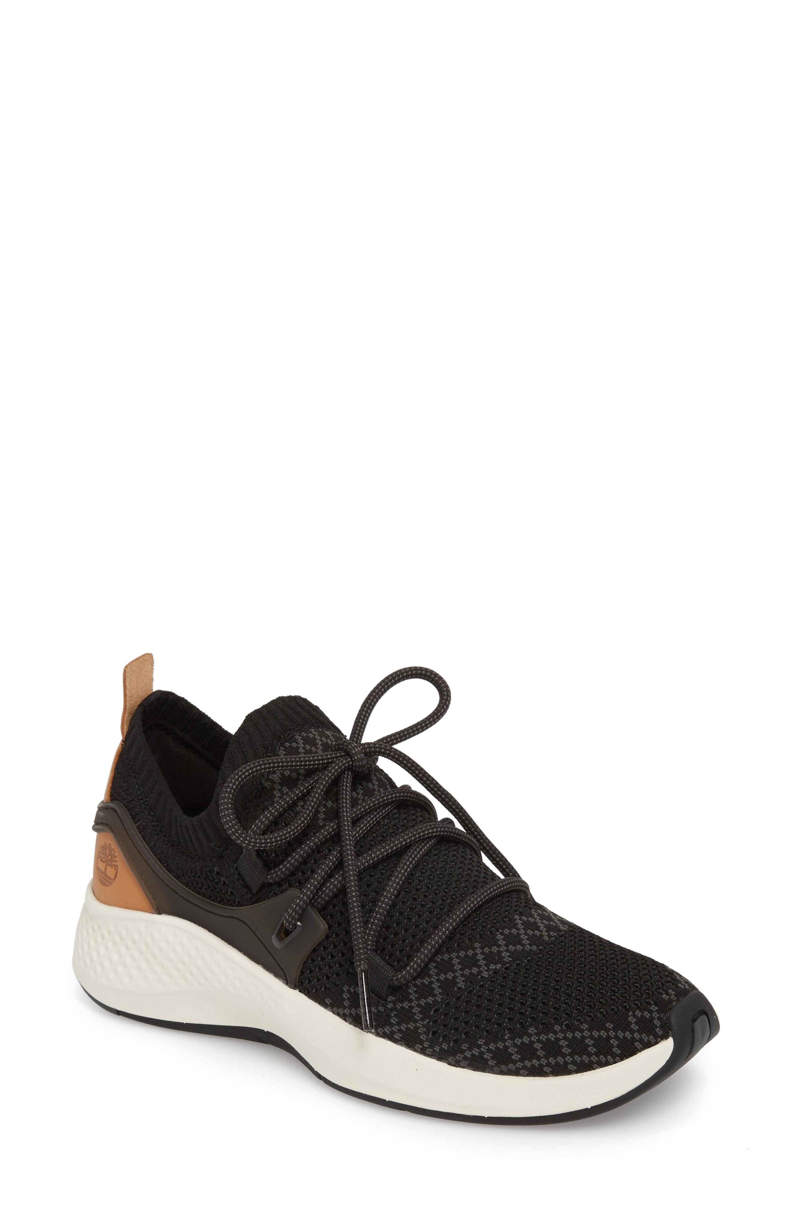 Timberland Flyroam Go Knit Sneaker In Black Fabric
