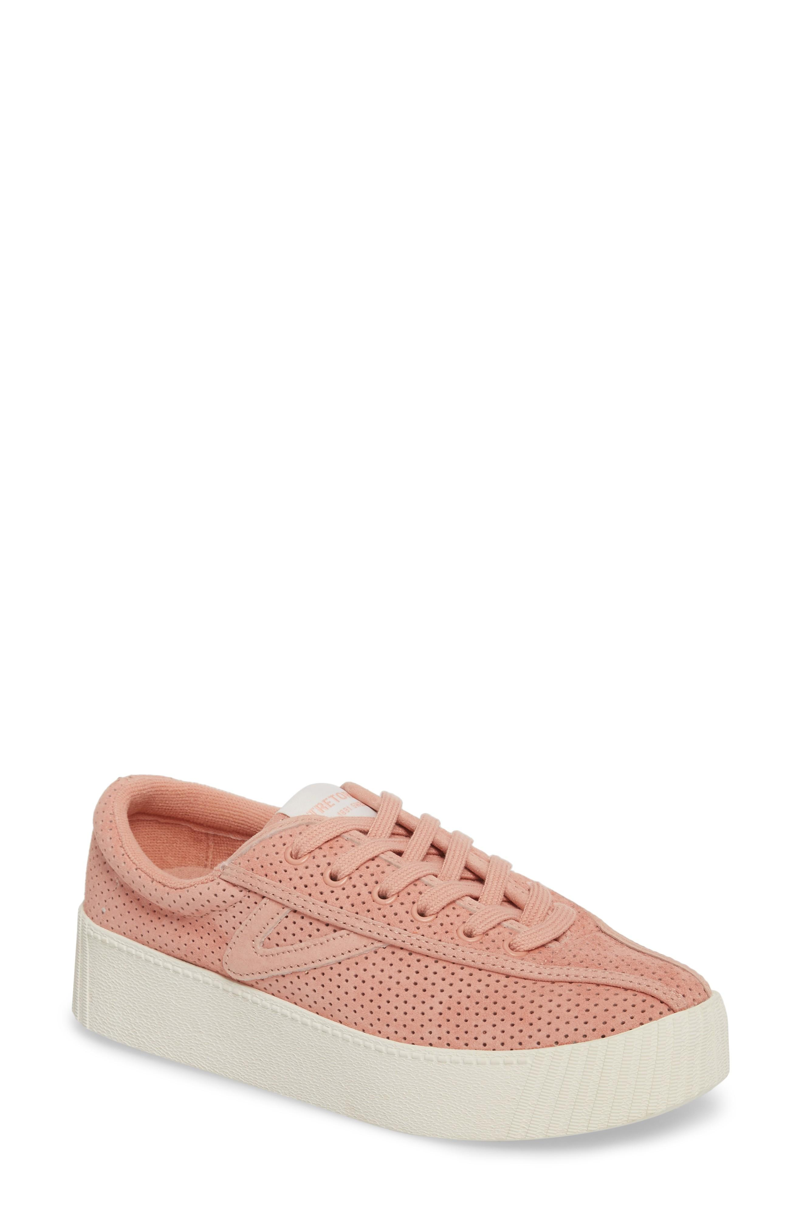 Tretorn Women's Nylite Bold Perforated Nubuck Leather Lace Up Platform Sneakers In Formula One/ Formula One