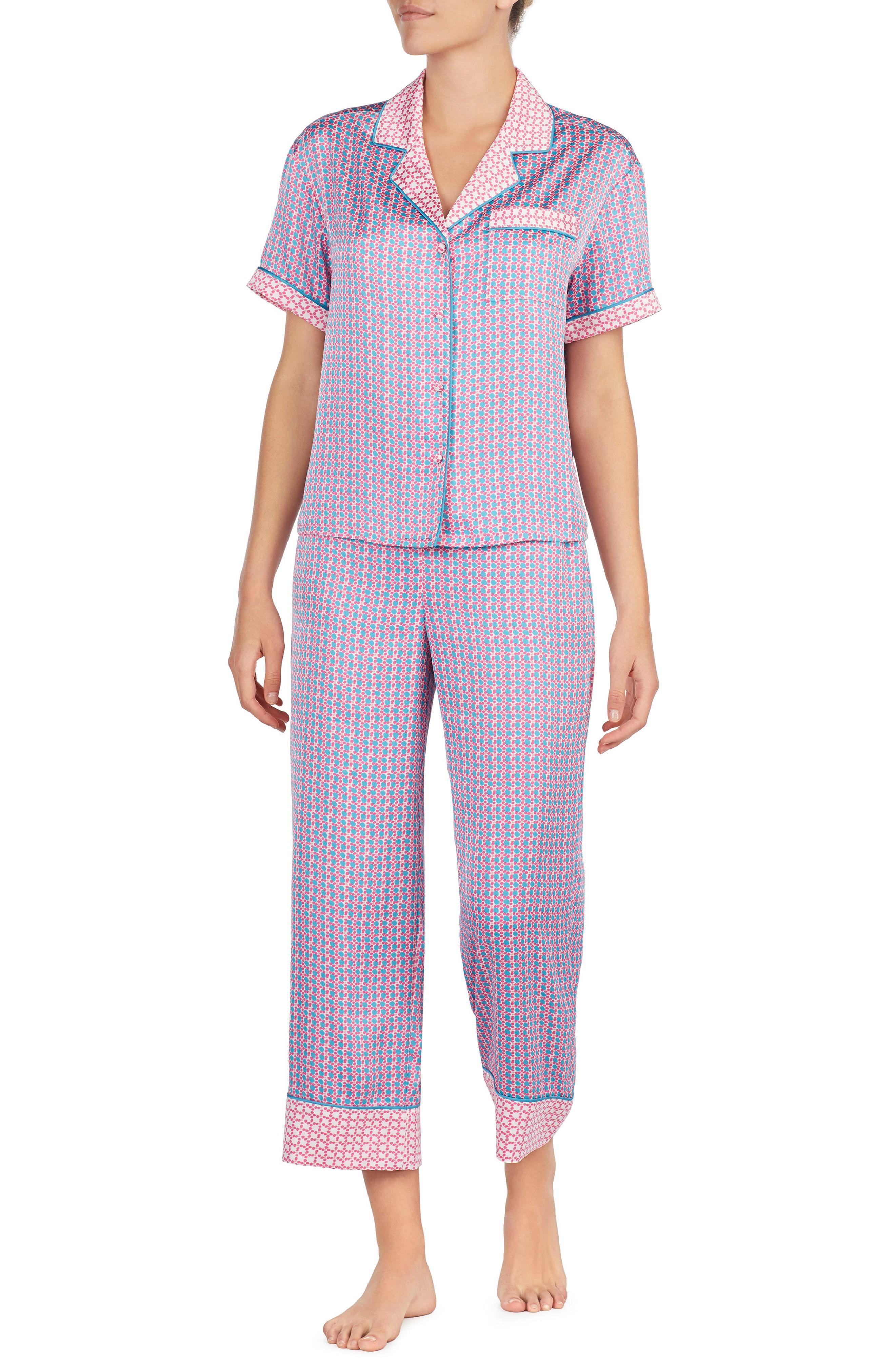 Kate Spade Print Pajamas In Geo Grid