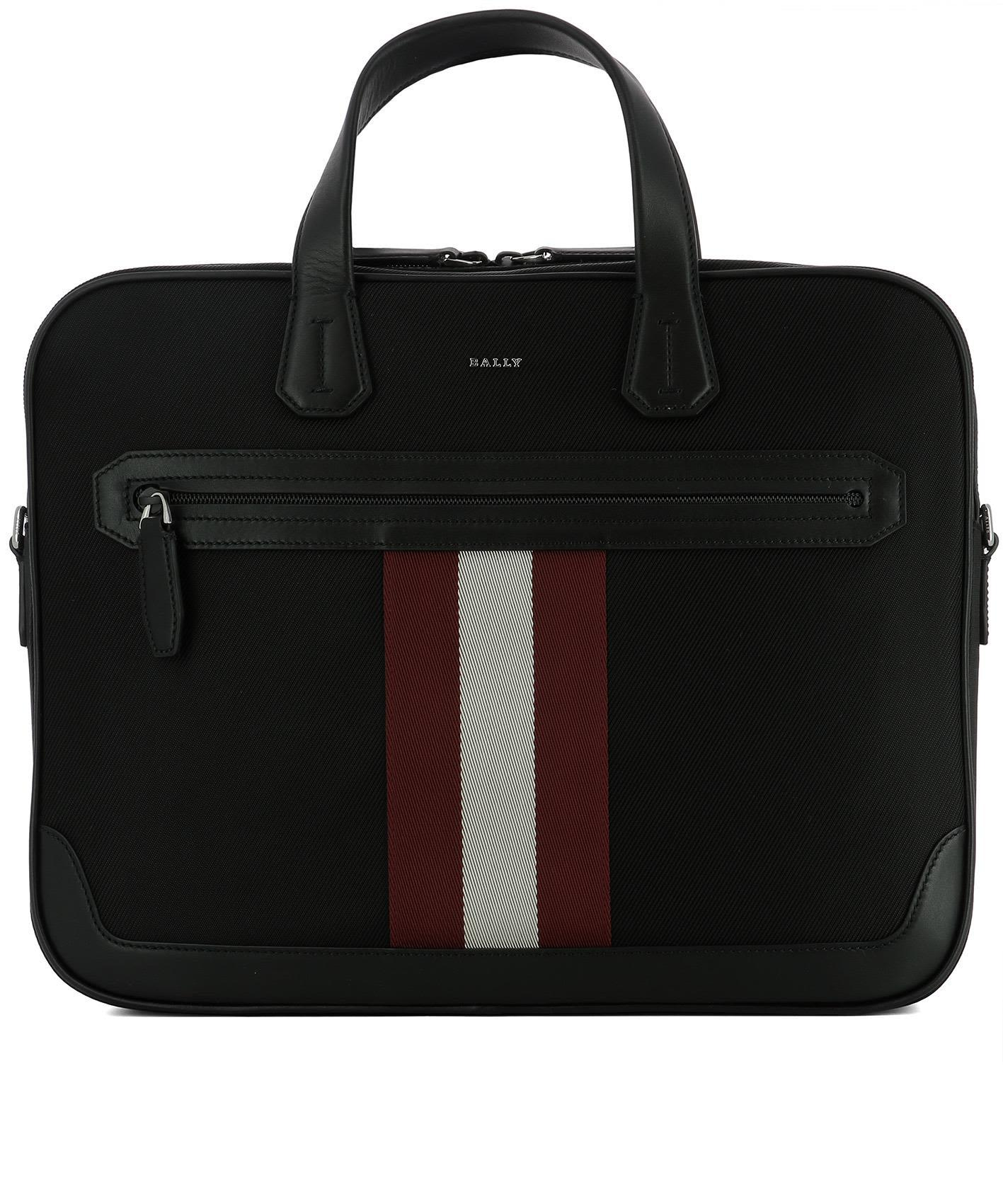 Bally Black Fabric Handle Bag