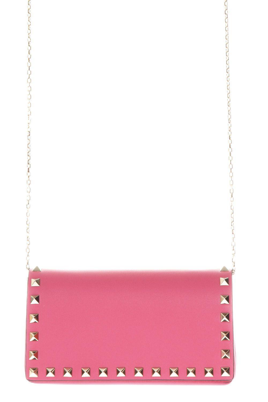 Valentino Garavani Rockstud Pink Leather Cluth