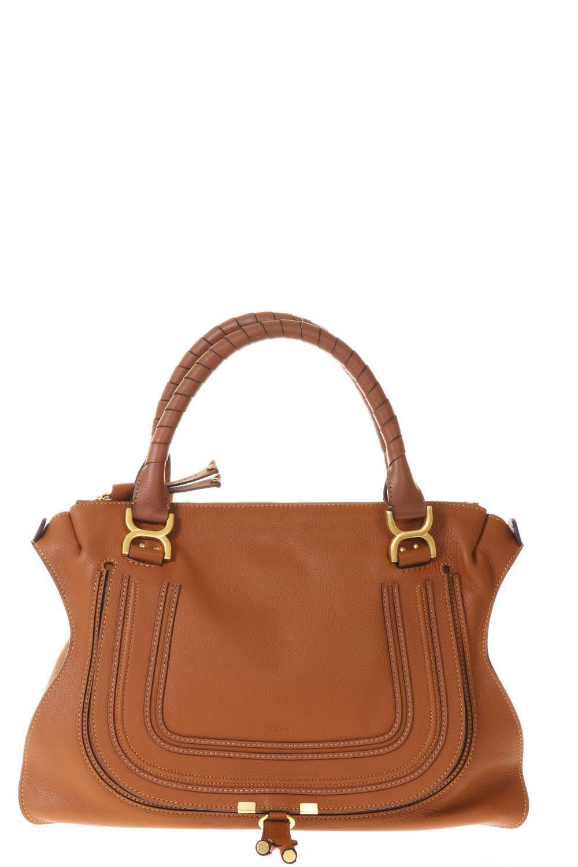 ChloÉ Large Mercie Tan Leather Bag