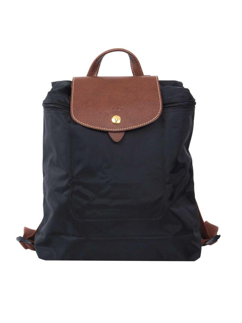 Longchamp Le Pliage Backpack In Black