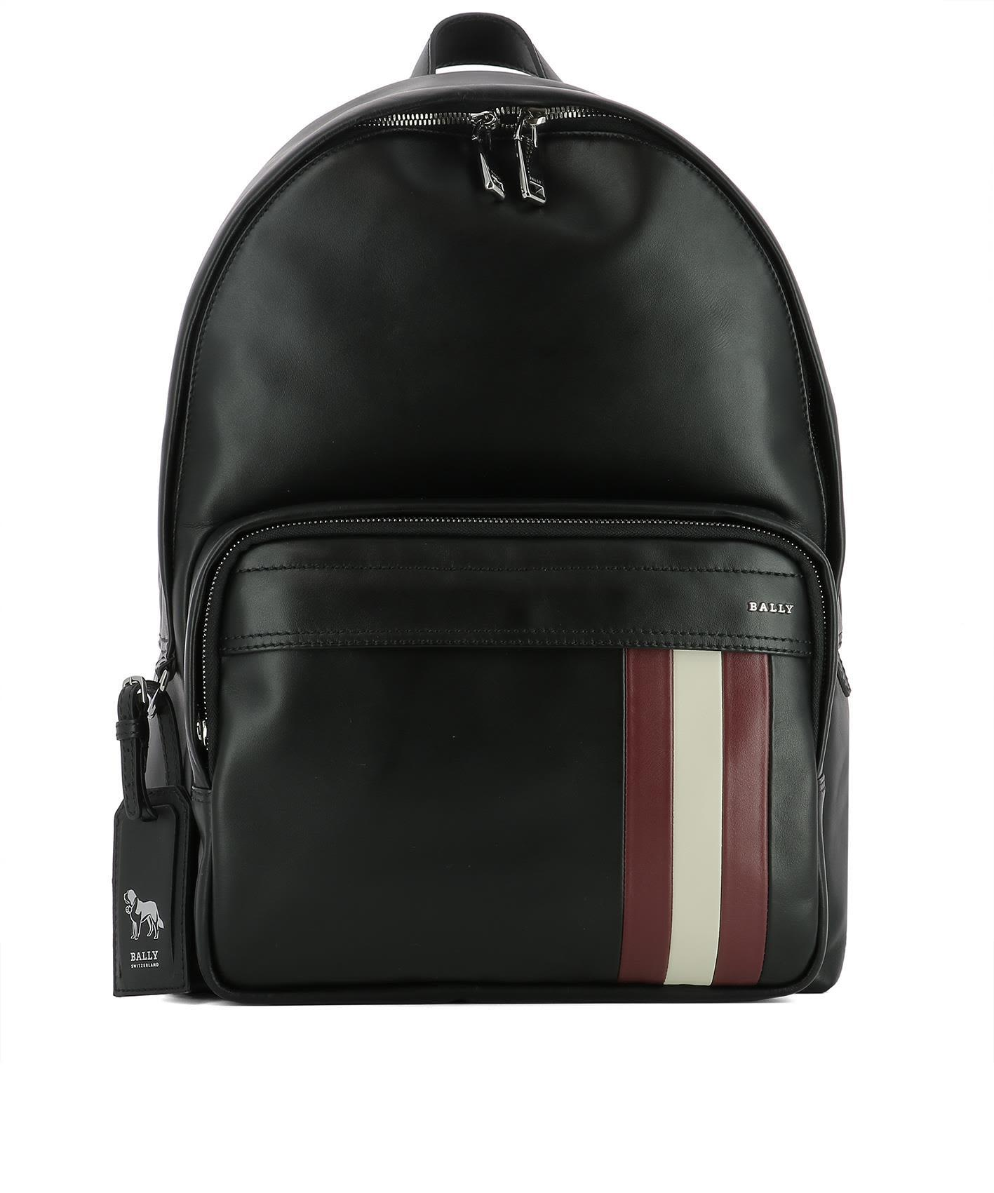 Bally Black Leather Backpack