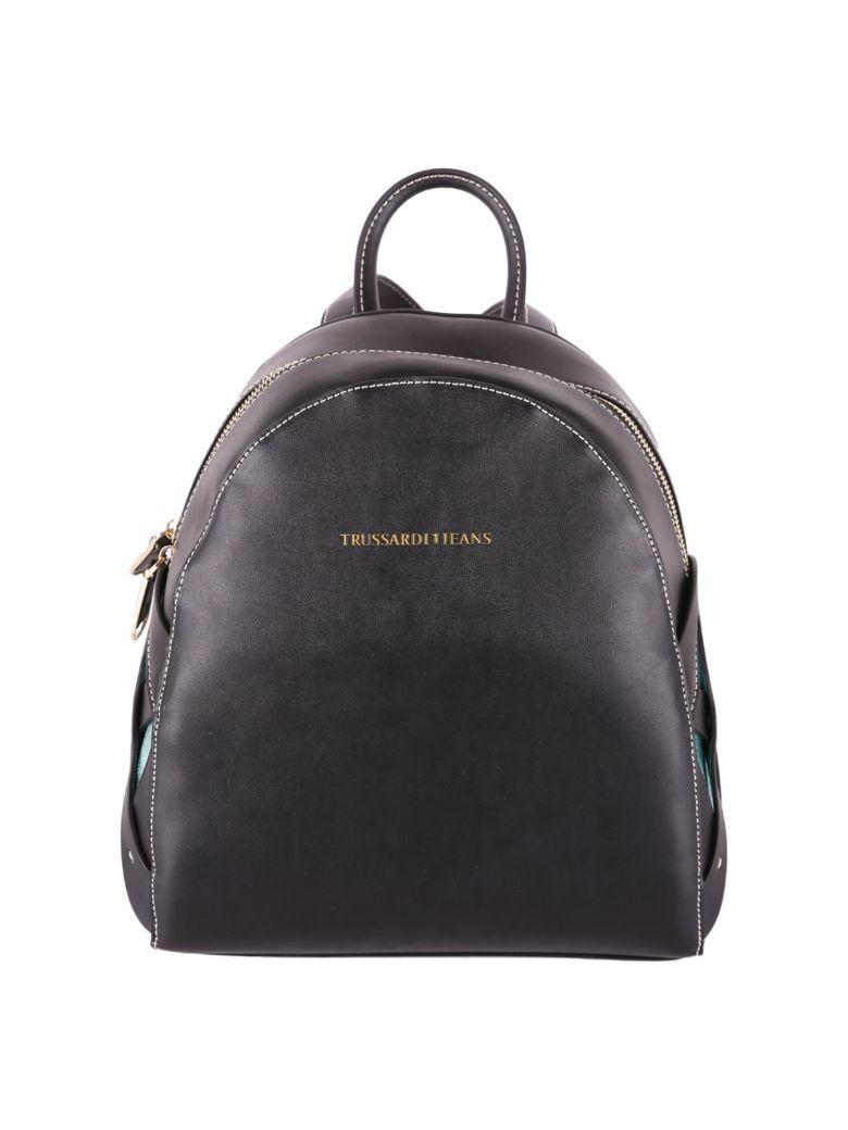 Trussardi Dahlia Ecoleather Backpack In Black