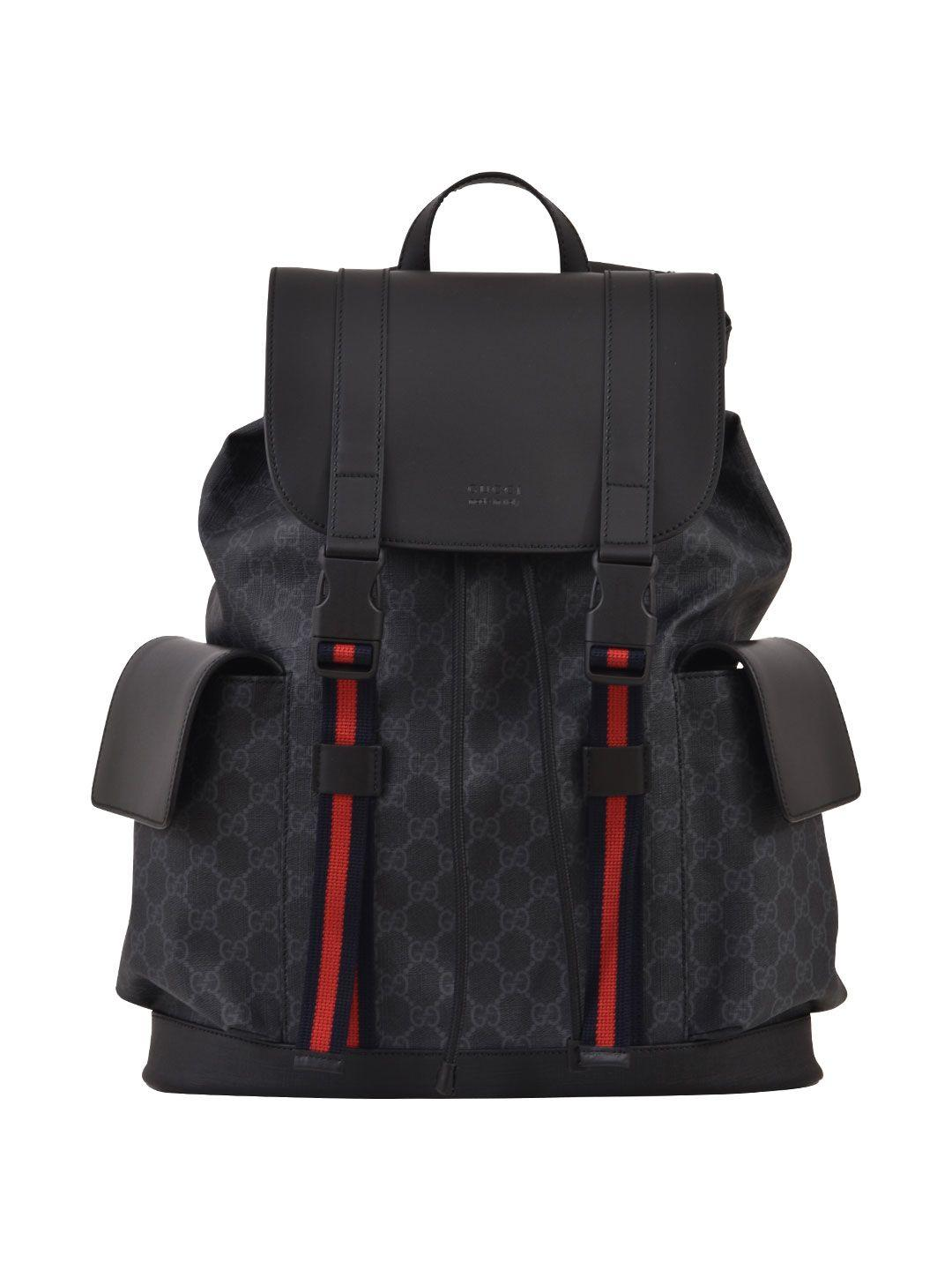 Gucci Gg Supreme Backpack In Black