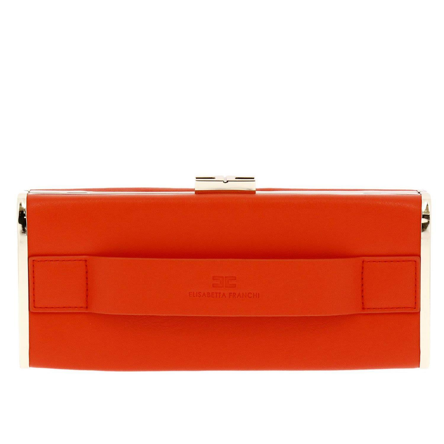 Elisabetta Franchi Celyn B. Clutch Shoulder Bag Women Elisabetta Franchi In Red