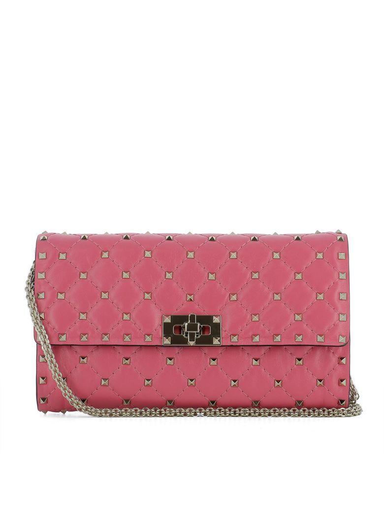 Valentino Garavani Pink Leather Shoulder Bag
