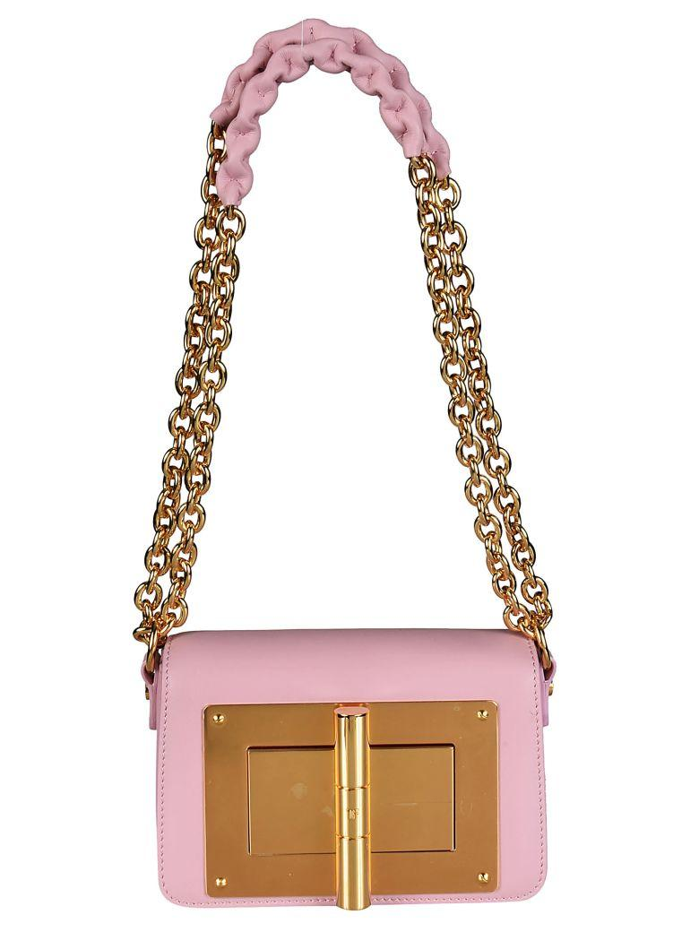 Tom Ford Foldover Shoulder Bag In Pink