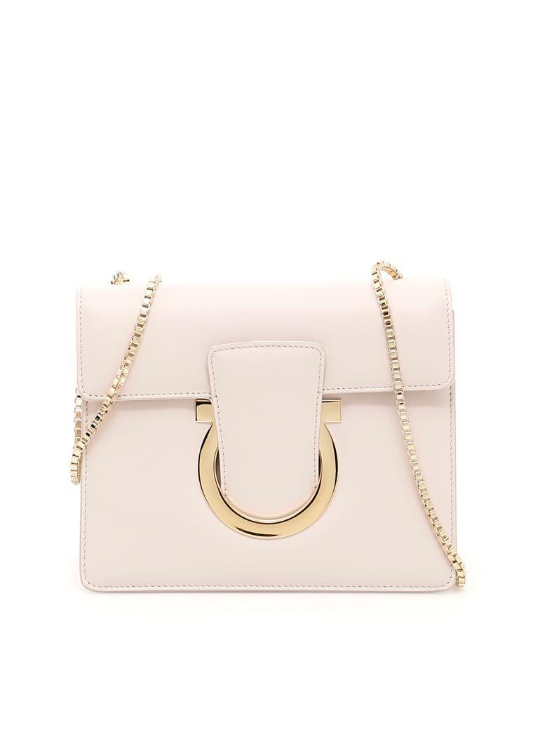 Salvatore Ferragamo Thalia Crossbody Bag In Jasminebeige