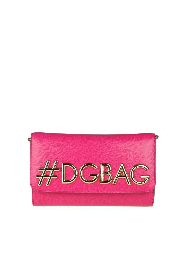 """Dolce & Gabbana Dg Girls"""" Bag In Dauphine Fuchsia Calf"""" In Leopard"""