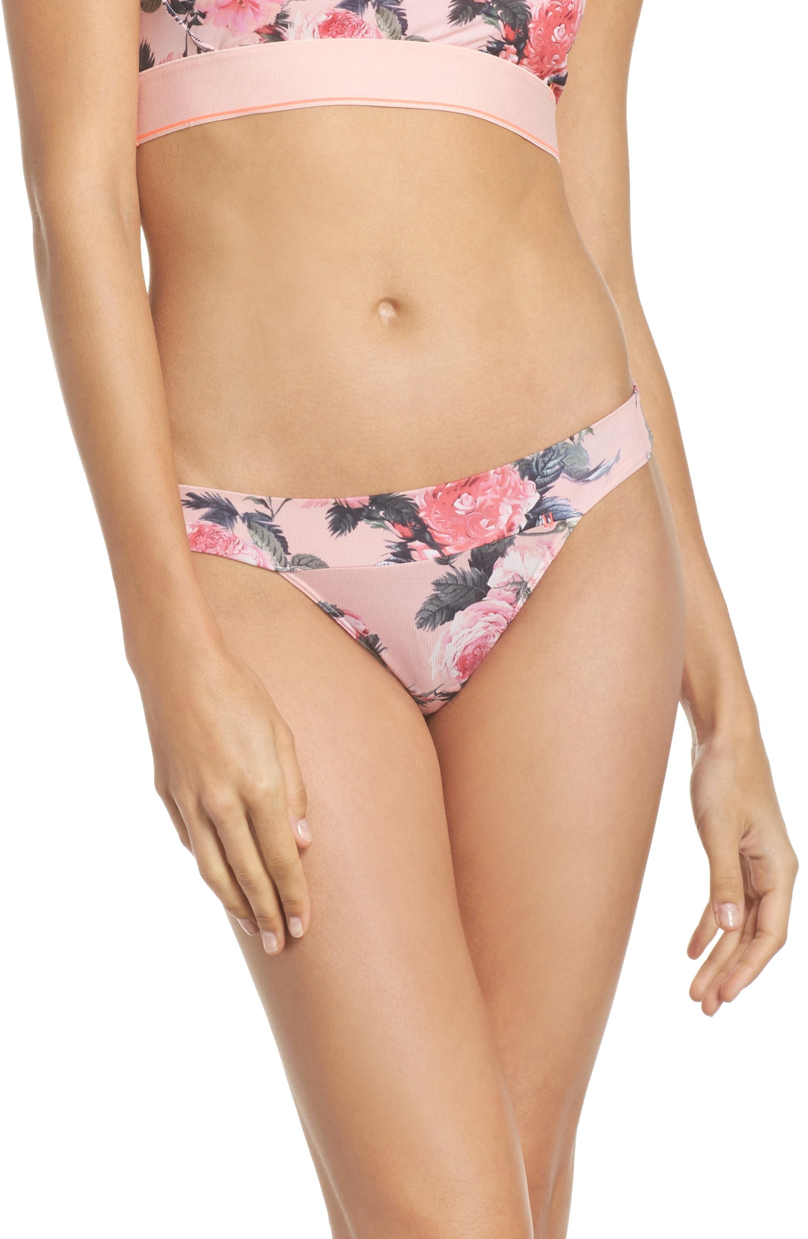 Stance Floral Thong In Pink Multi