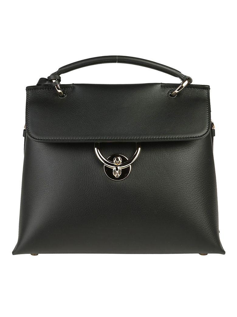 Salvatore Ferragamo Jet Set Shoulder Bag In Nero