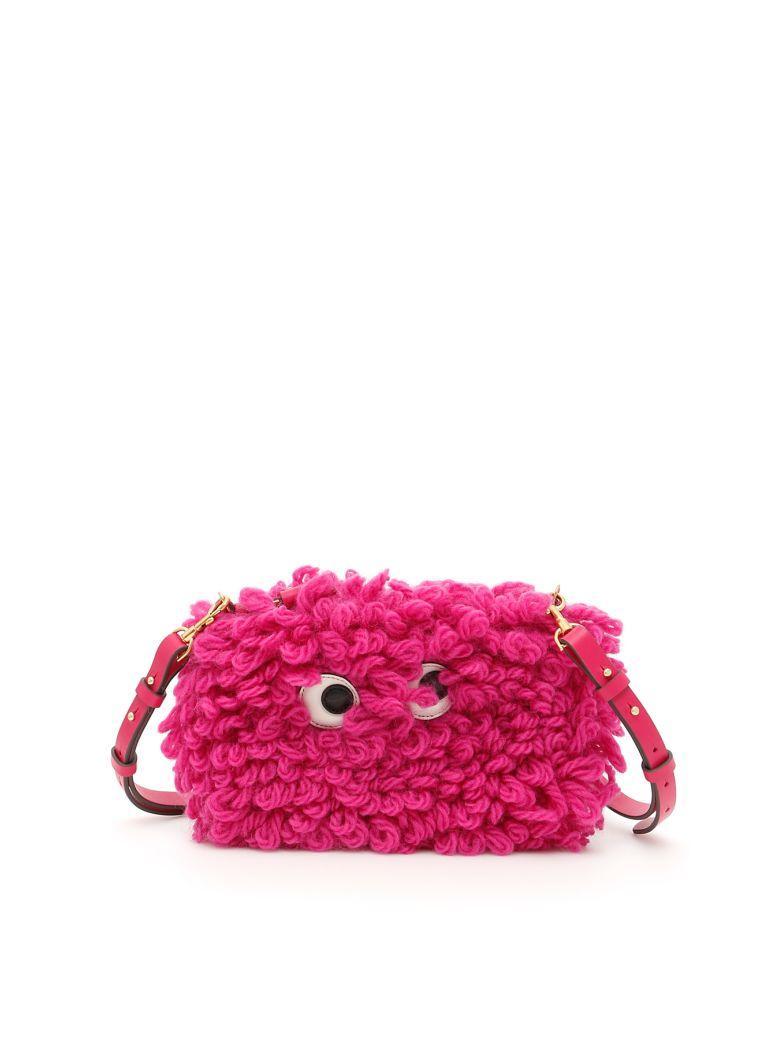 Anya Hindmarch Shag Shop Crossbody Bag In Magentarosa