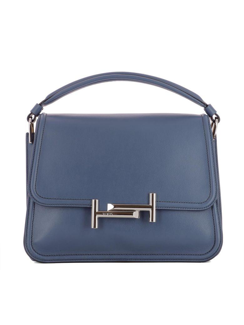 Tod's Turquoise Leather Handle Bag In Light Blue