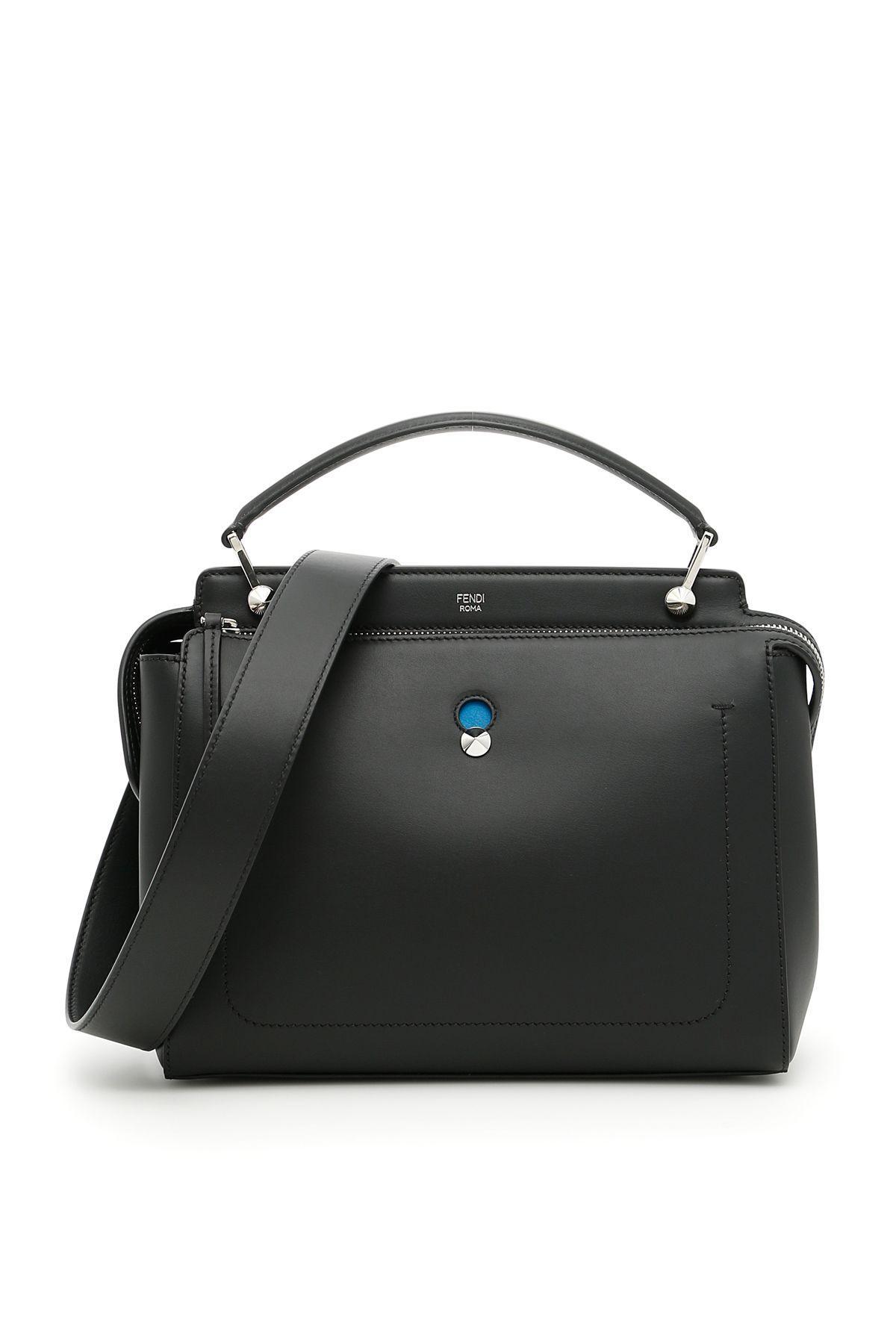 Fendi Dotcom Bag In Nero+blu Royal+pallnero