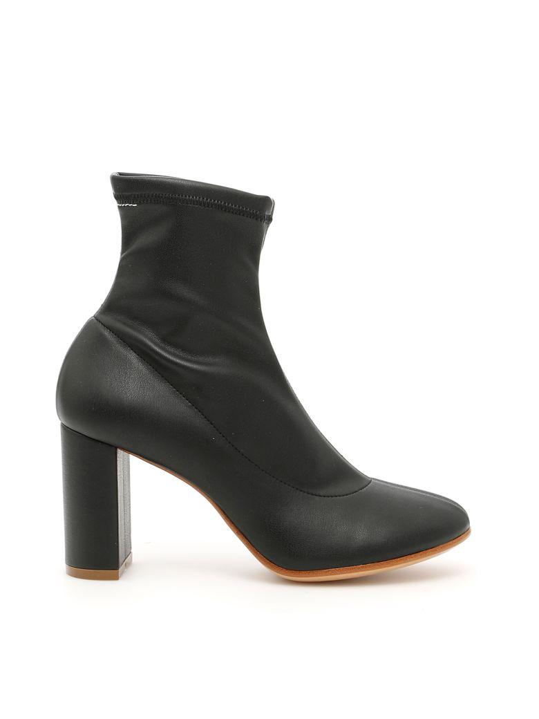 Mm6 Maison Margiela Stretch Booties In Black