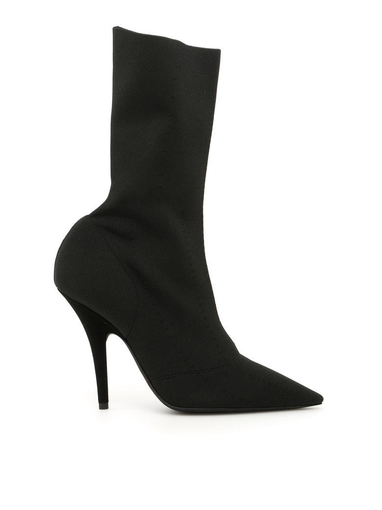 Yeezy Knit Ankle Boots In Blacknero