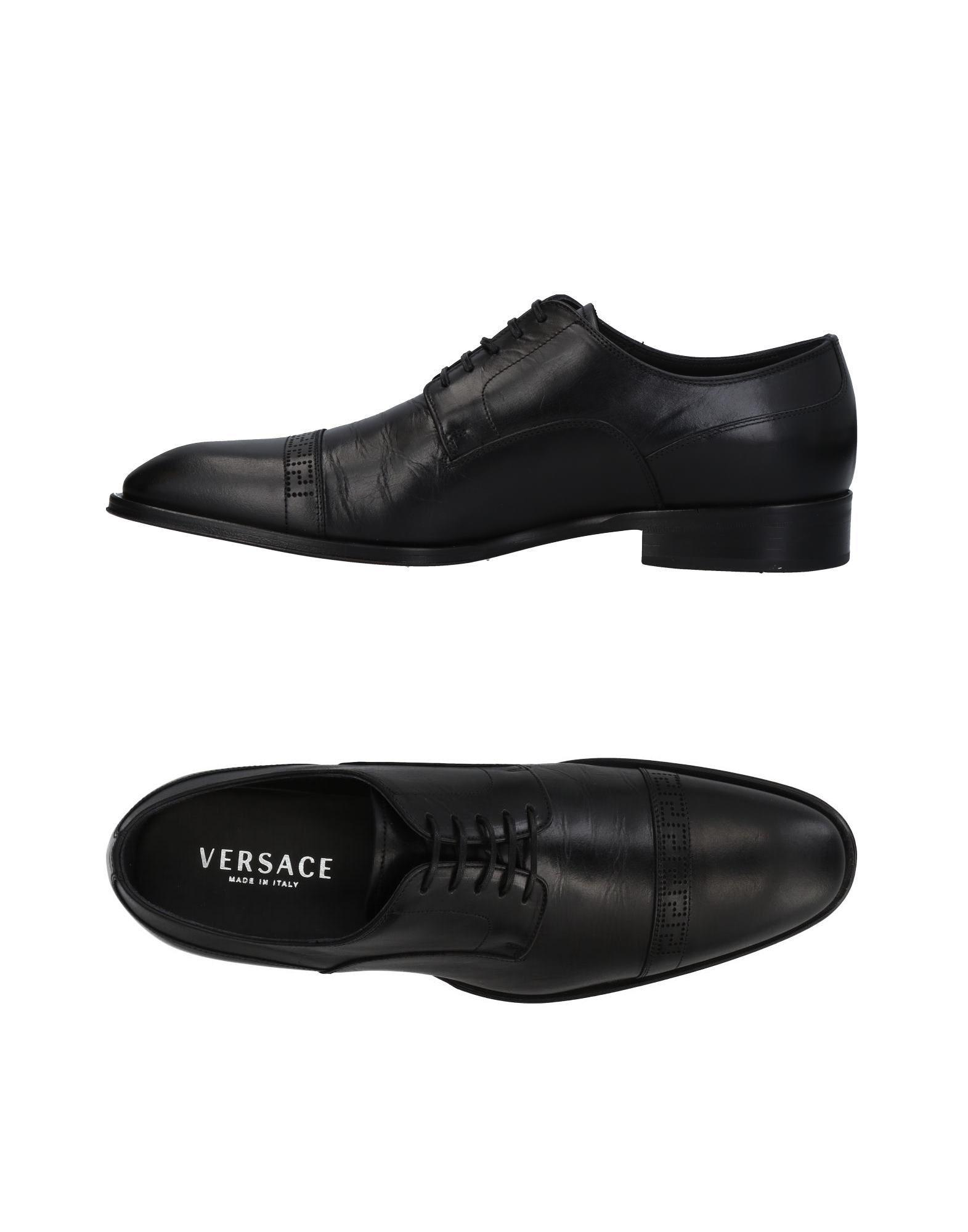 Versace Lace-up Shoes In Black