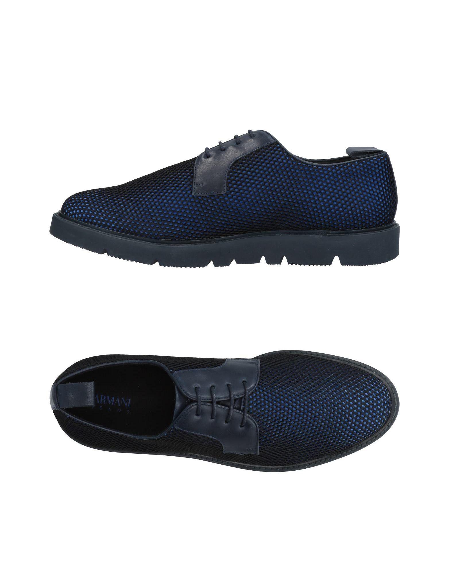 Armani Jeans Laced Shoes In Blue