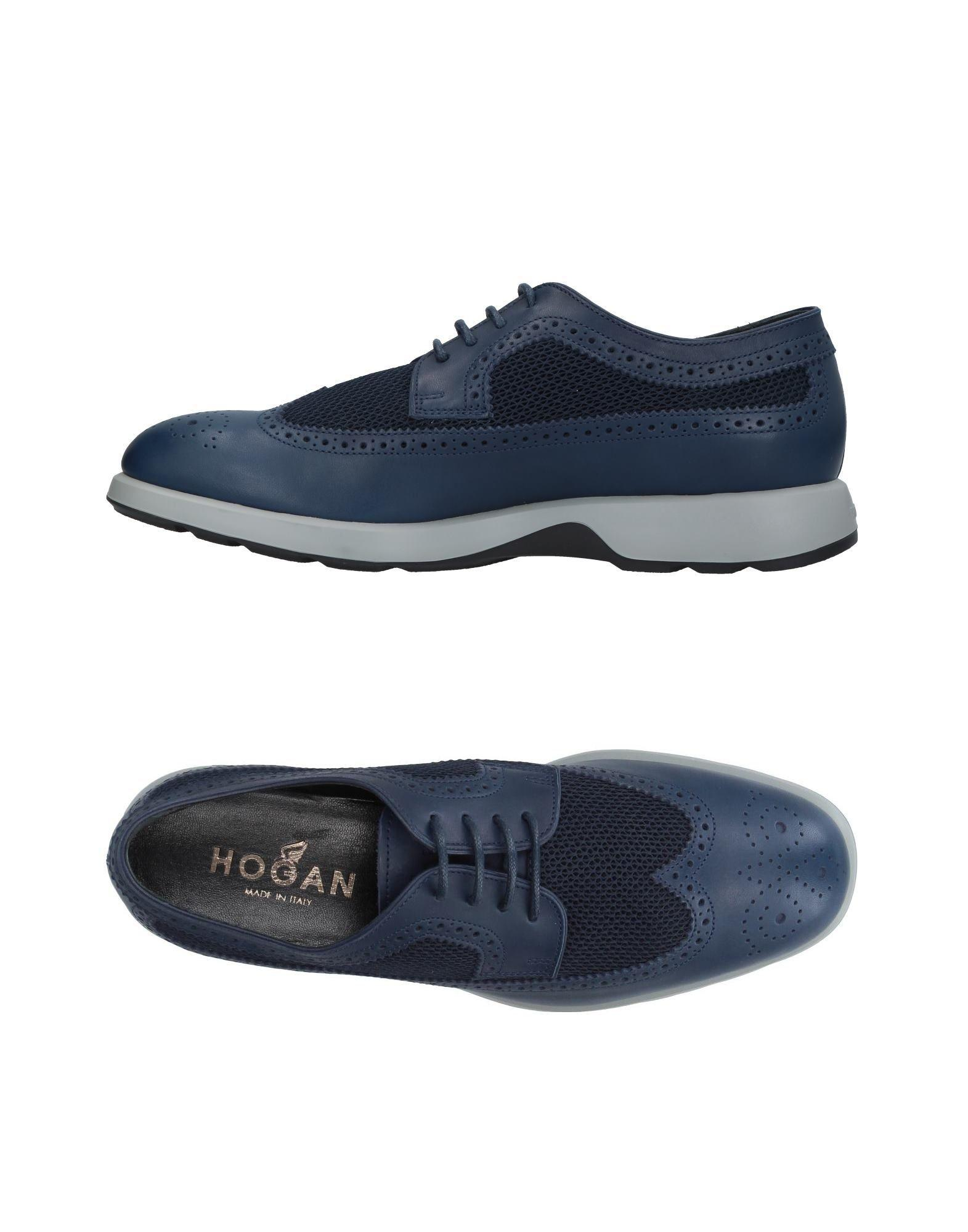 Hogan Lace-up Shoes In Blue