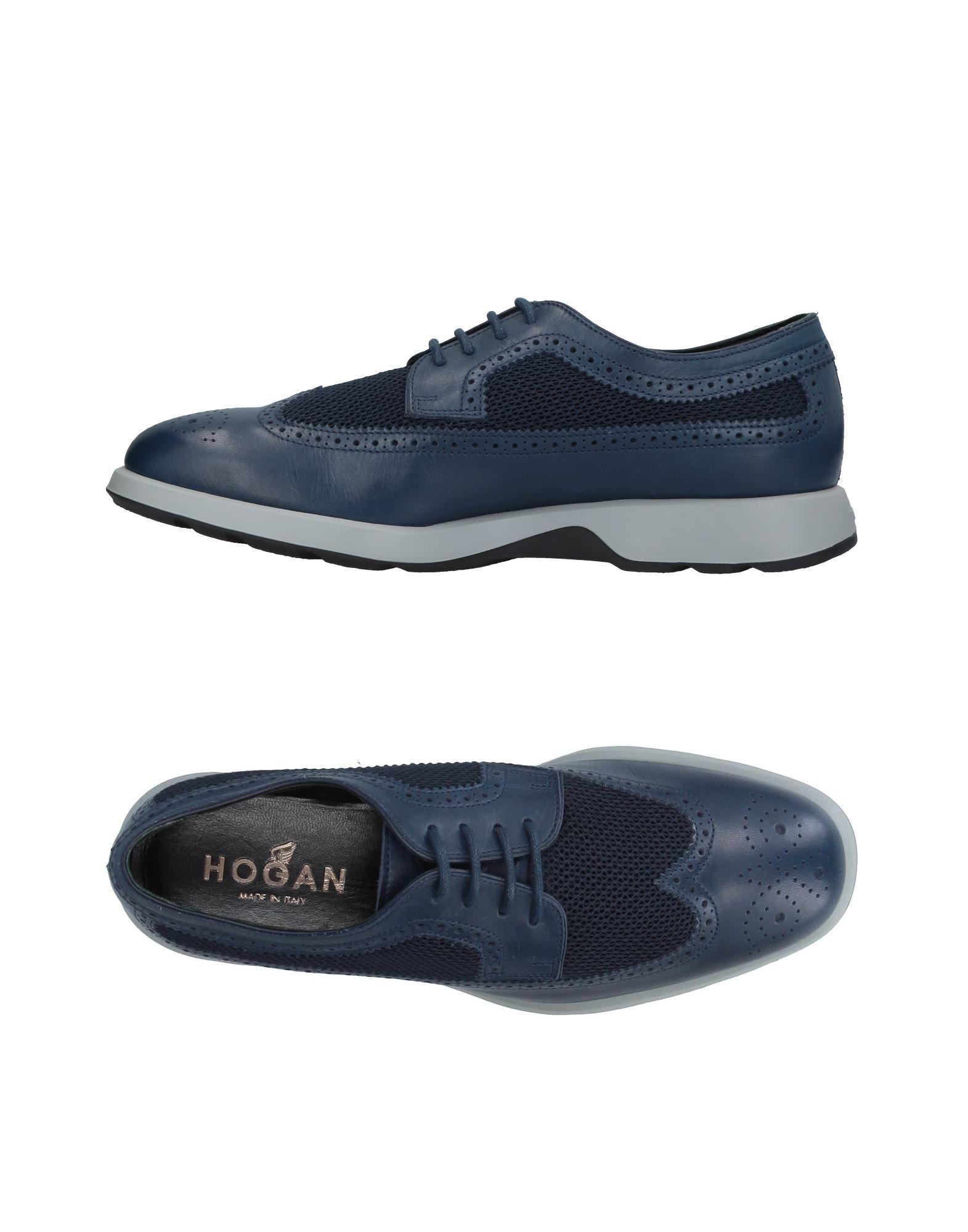 Hogan Laced Shoes In Dark Blue