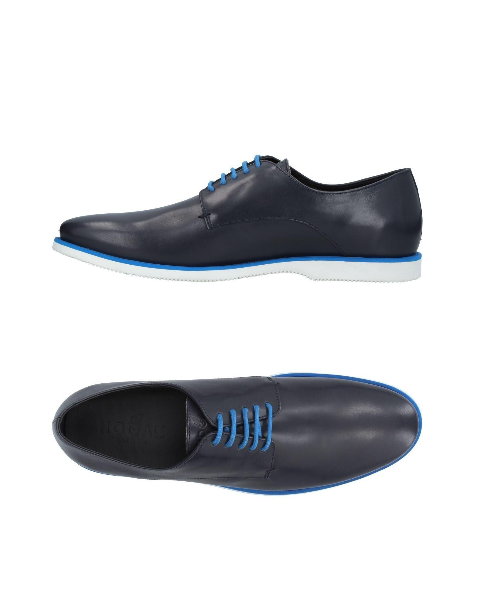 Hogan Lace-up Shoes In Dark Blue