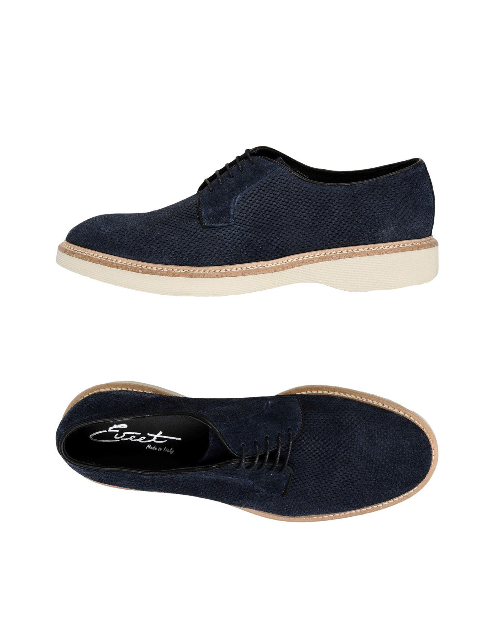 Eveet Laced Shoes In Dark Blue
