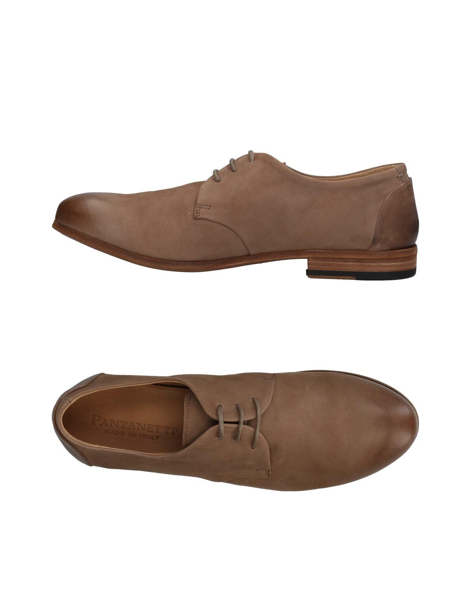 Pantanetti Laced Shoes In Khaki
