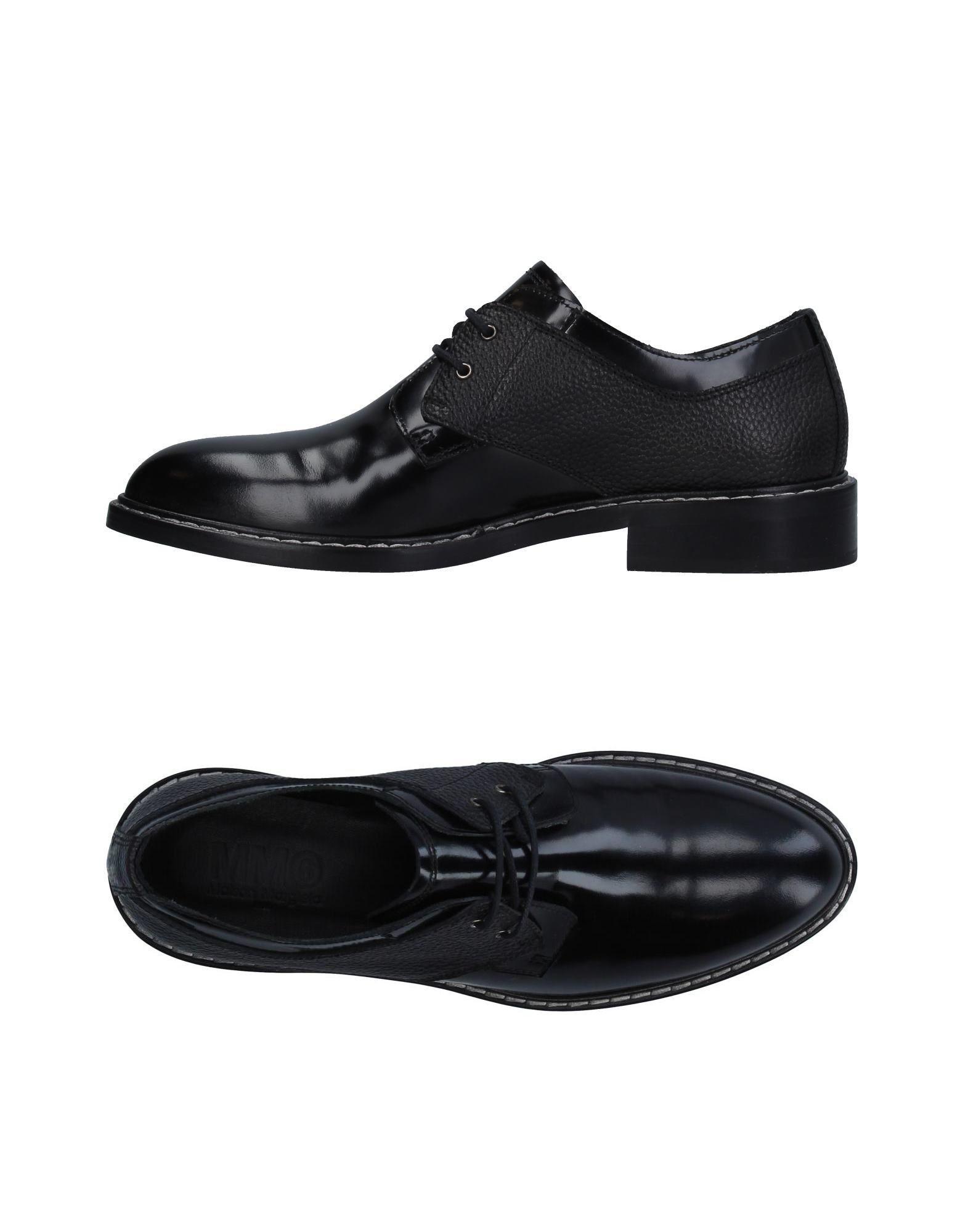 Mm6 Maison Margiela Lace-up Shoes In Black