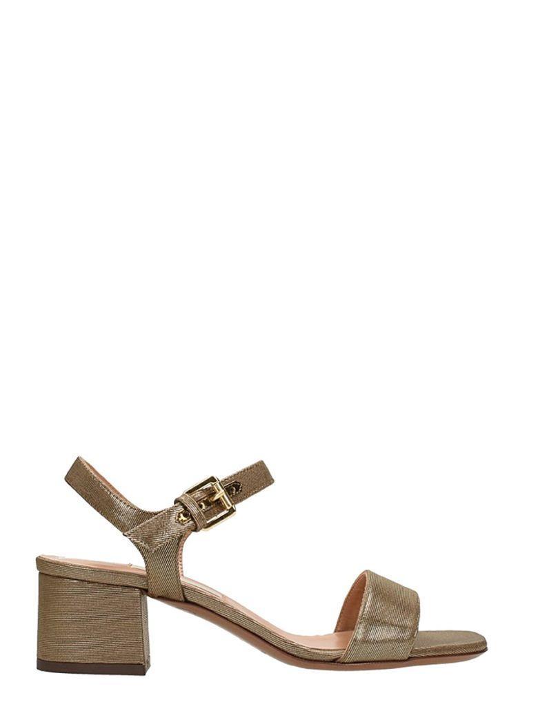 L'autre Chose Metal Bronze Calf Leather Sandals