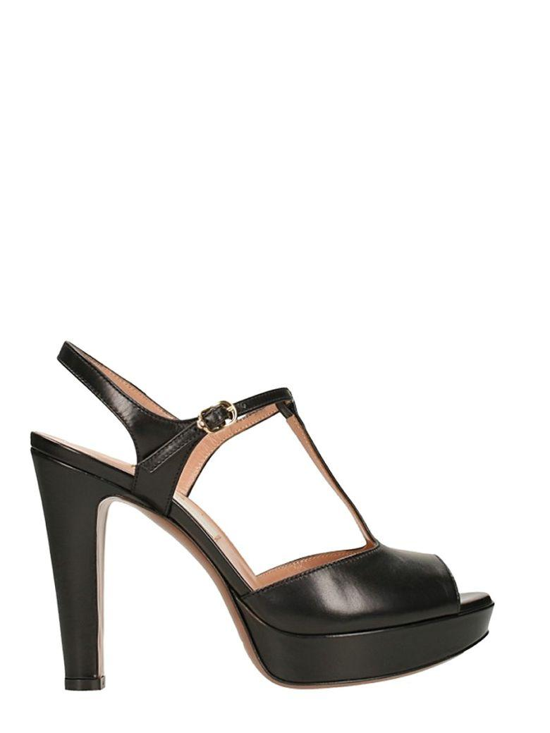L'autre Chose Plateau Black Sandals