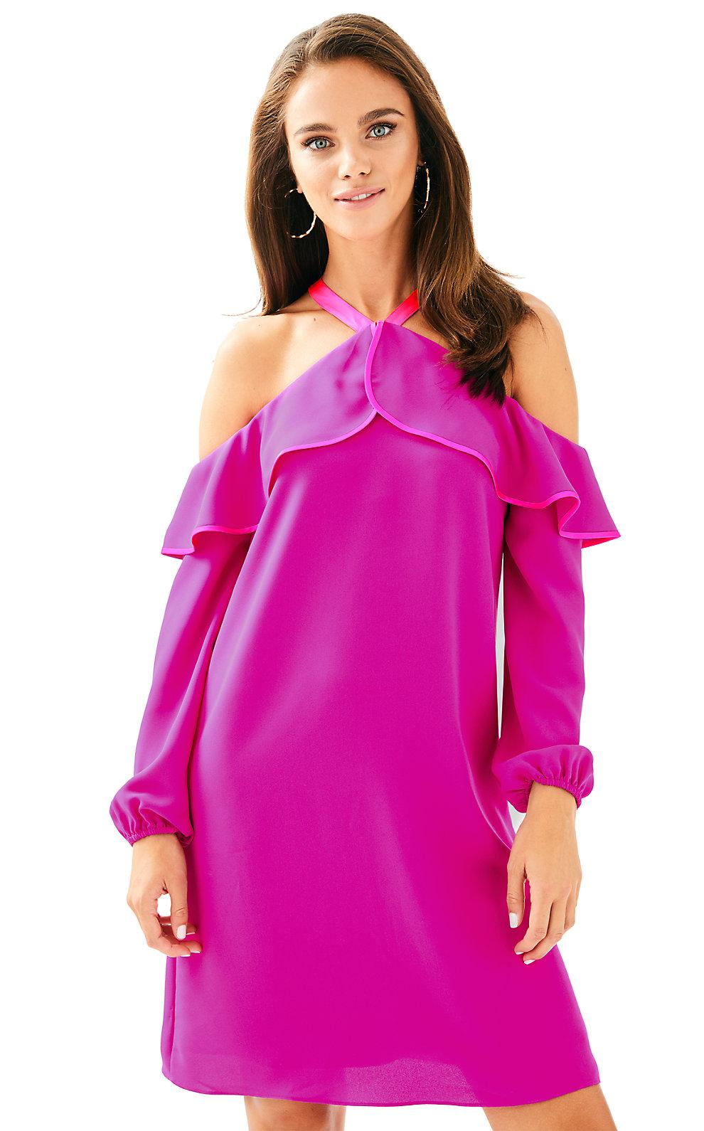 Lilly Pulitzer Abrielle Dress In Berry Sangria